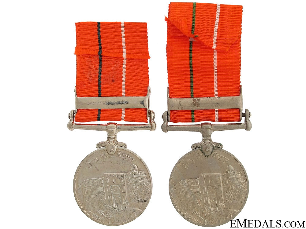 Two Indian Sainya Seva Medals