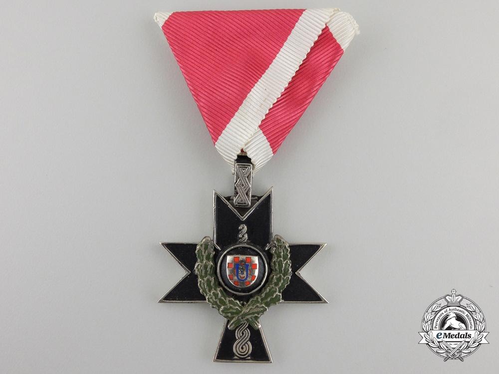 A Croatian Orderof Iron Trefoil toOblt. Hartman I.R. 184