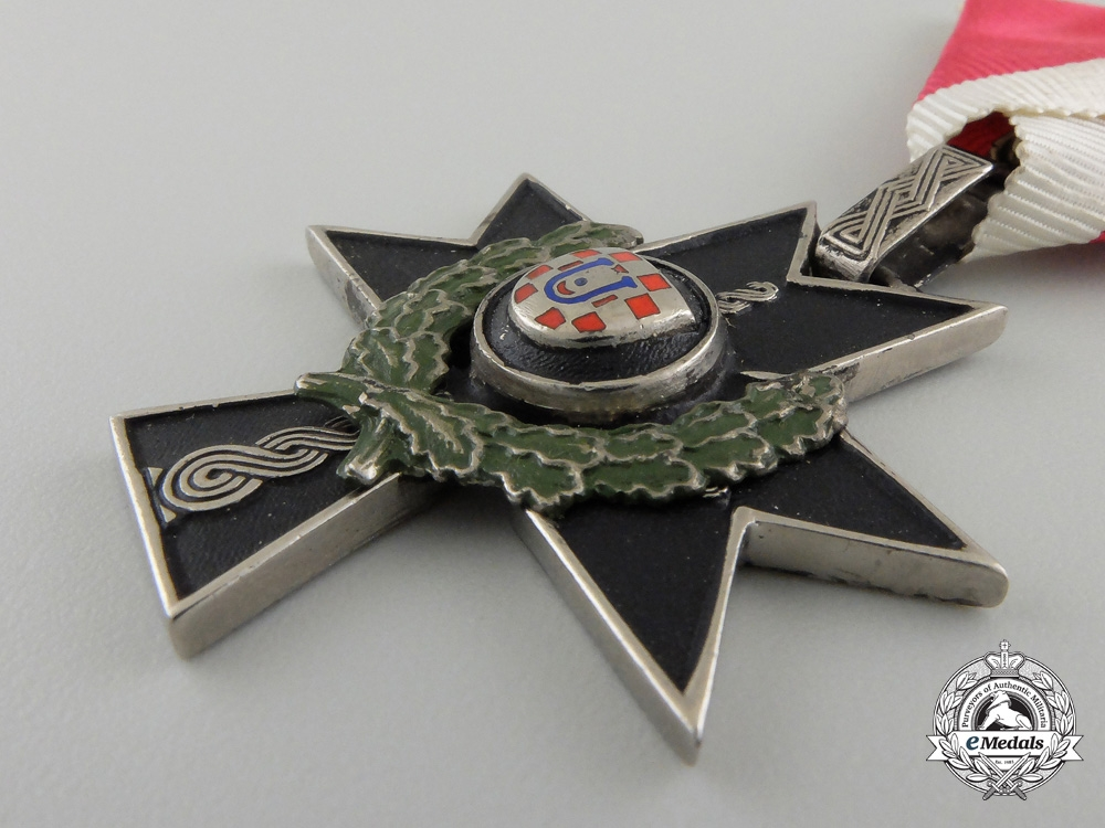 A Croatian Order of Iron Trefoil to Oblt. Hartman I.R. 184