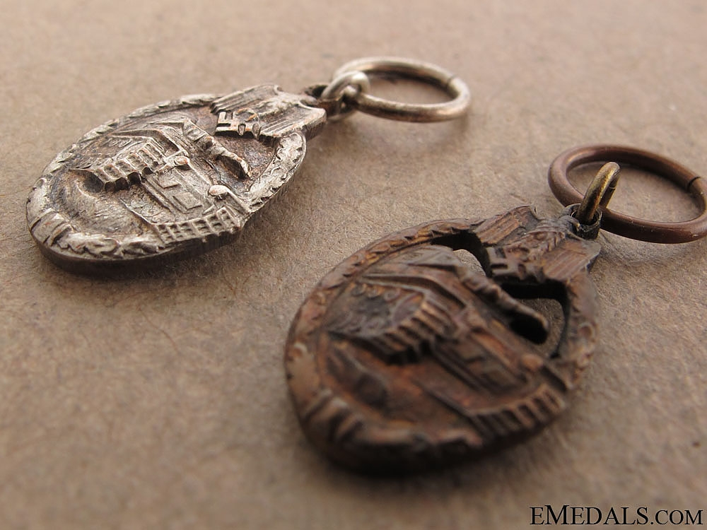 Two Miniature Panzer Medals