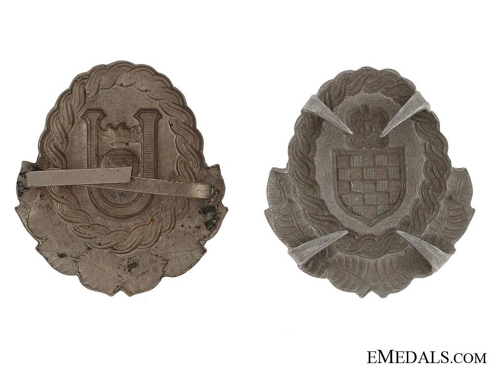 Ustasha & Army Officer's Cap Badges