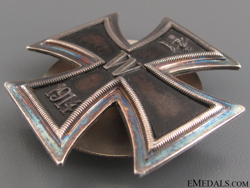 Iron Cross 1st Class 1914 - 925 Screw Back