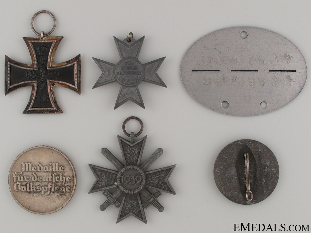 Six German Medals, Awards, & Badges