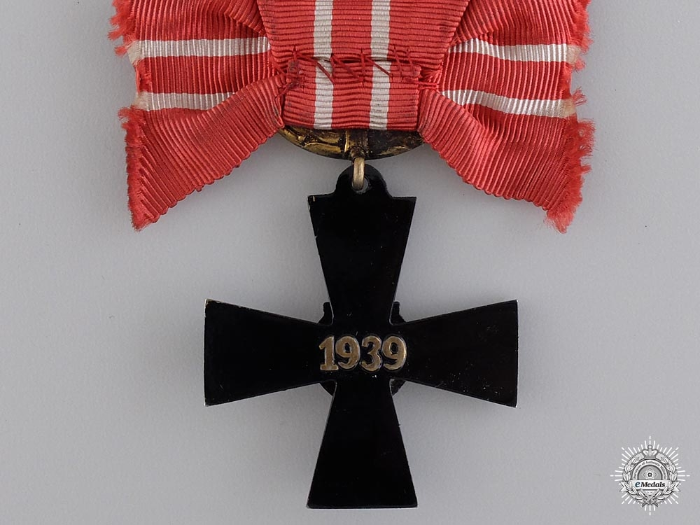 A Finnish Order of the Cross of Liberty; Fourth Class