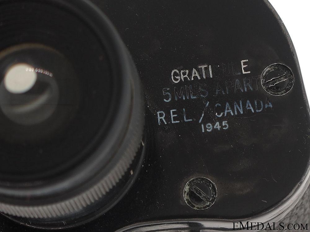 WWII Canadian Field Binoculars - Named