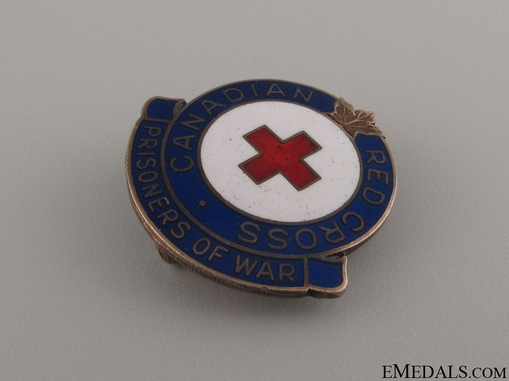 WWII Canadian Red Cross POW Pin by Birks