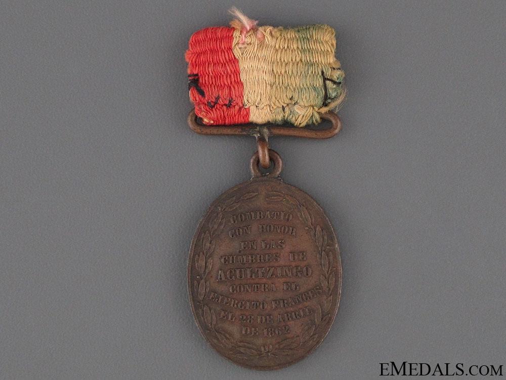 1862 Acultzingo Medal