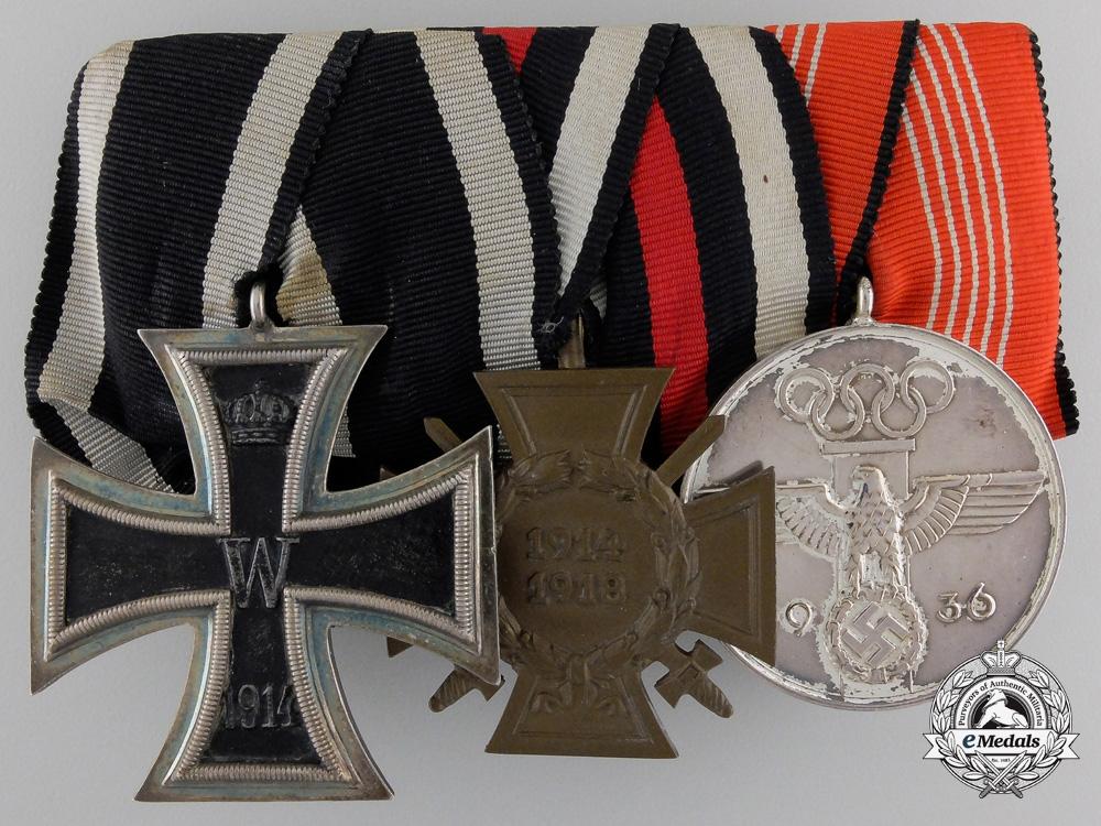 A First War & 1936 German Olympic Medal Bar
