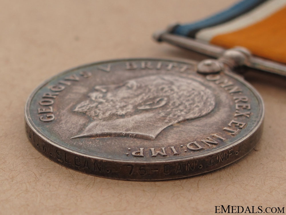 British War Medal - 75th Infantry Battalion