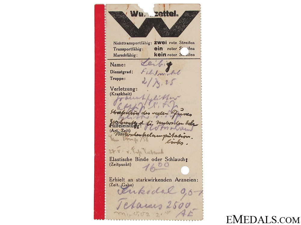 A Group of Rommel Signed Afrikakorps Documents