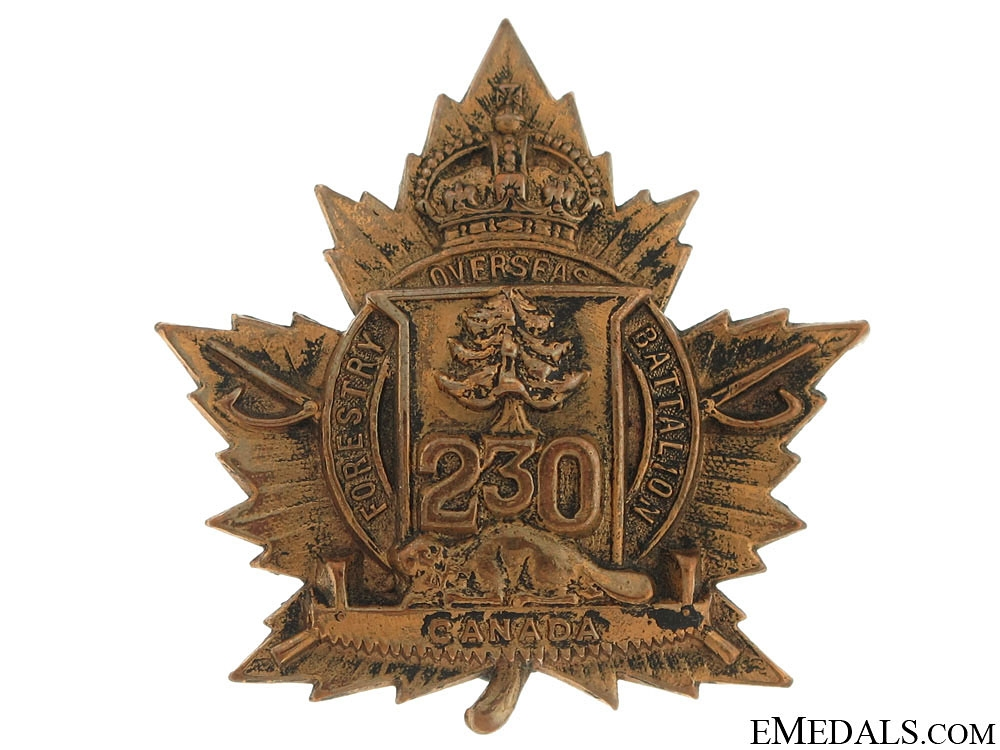 230th CEF Battalion Cap Badge