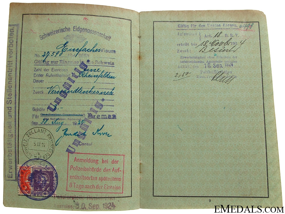 Group of Three German ID & Booklets