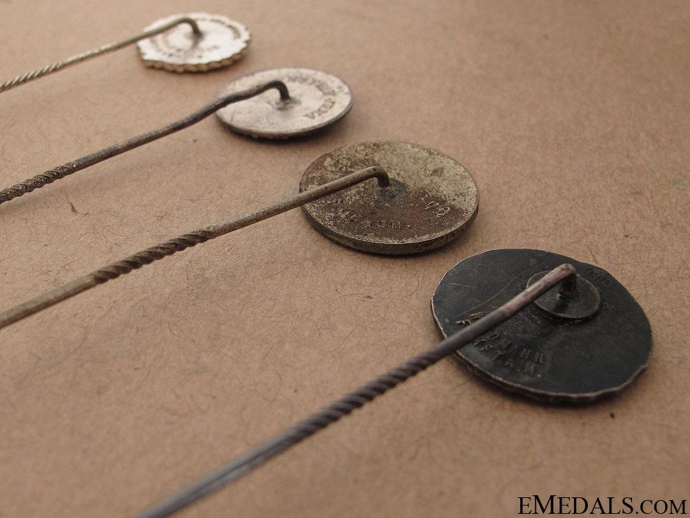 Four German Stick Pins