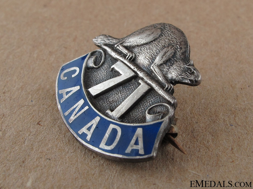 WWI 71st Infantry Battalion Sweetheart Pin
