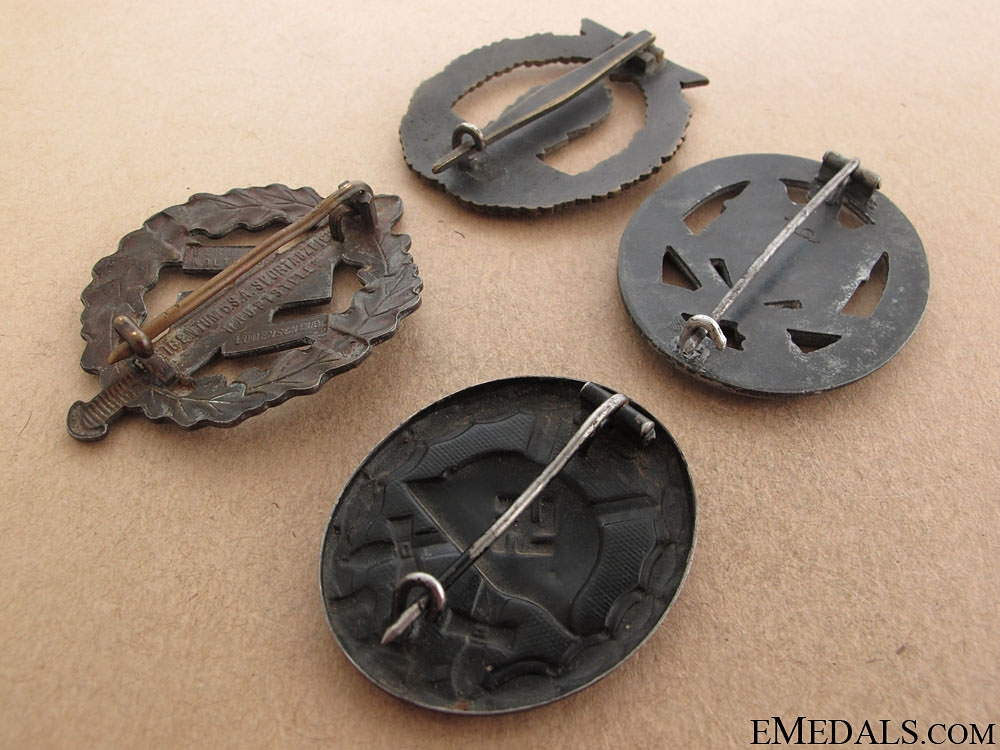 WWII Four German Badges