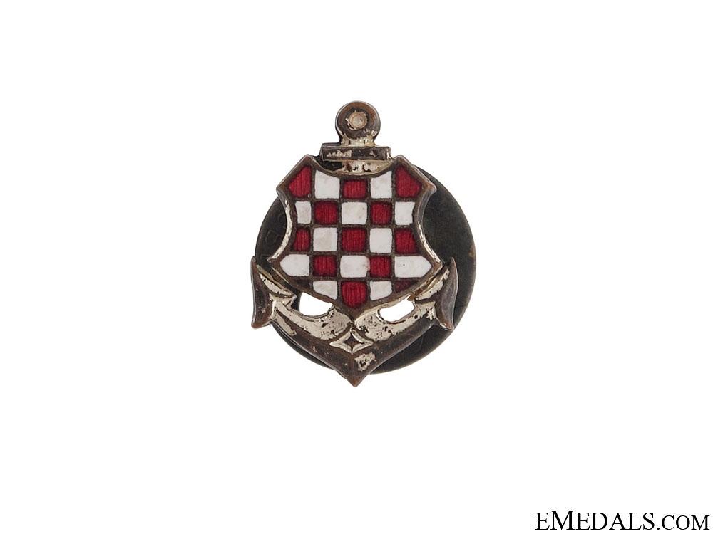 WWI Badge and Photo of Croatian Naval Veteran