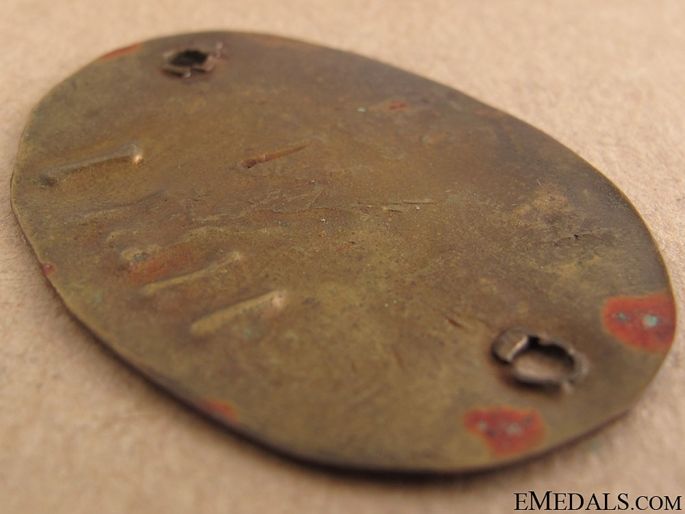 WWII Japanese ID Tag