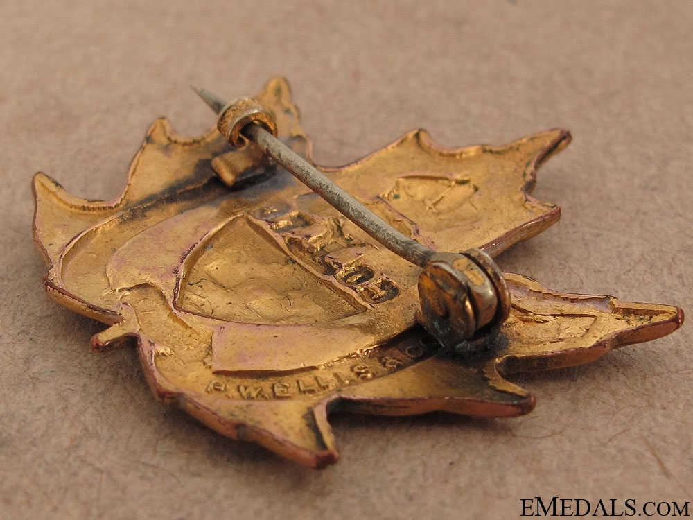 WWI No. 2 University Company UofT Pin CEF