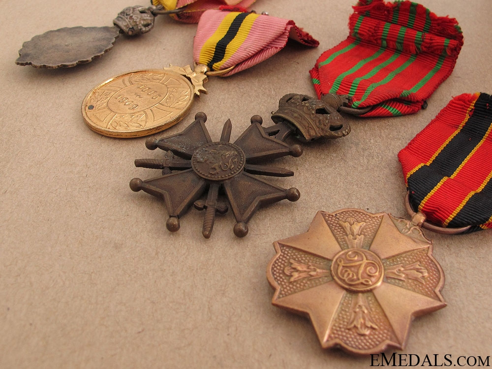 Four Belgian Awards and Decorations