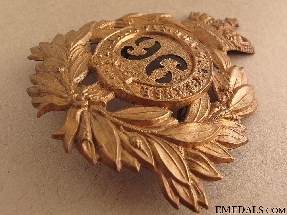 Victorian Era 96th Regiment of Foot Helmet Plate