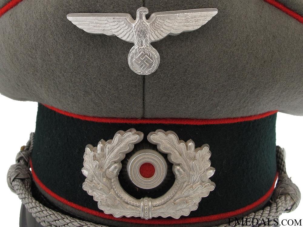 Army (Heer) Flak Officer's Visor Cap