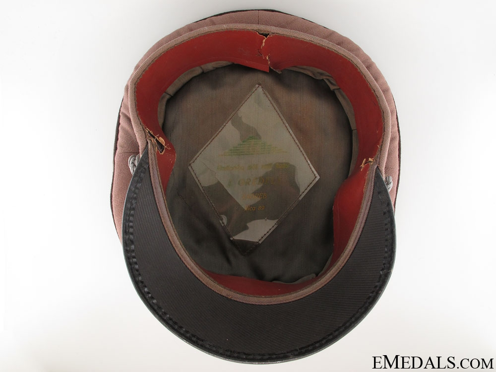 WWII Croatian Medical Army Officer's Visor Cap