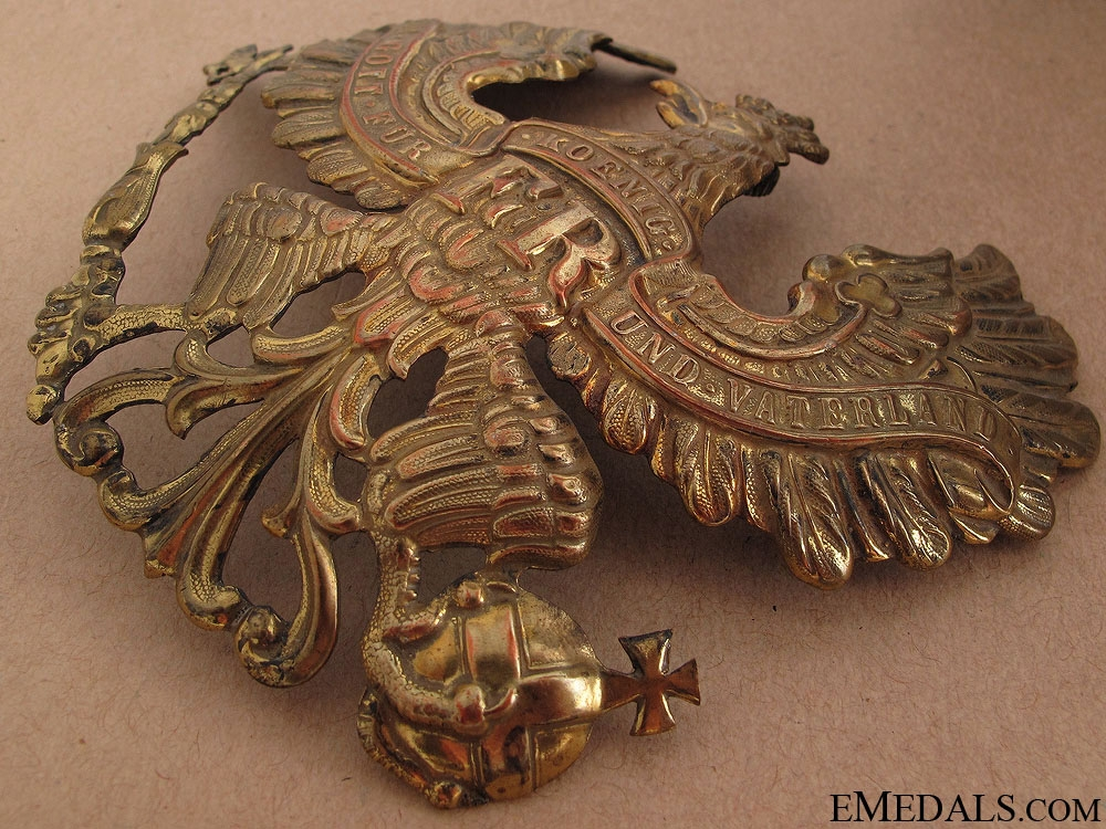 WWI Prussian Pickelhaube Front Plate