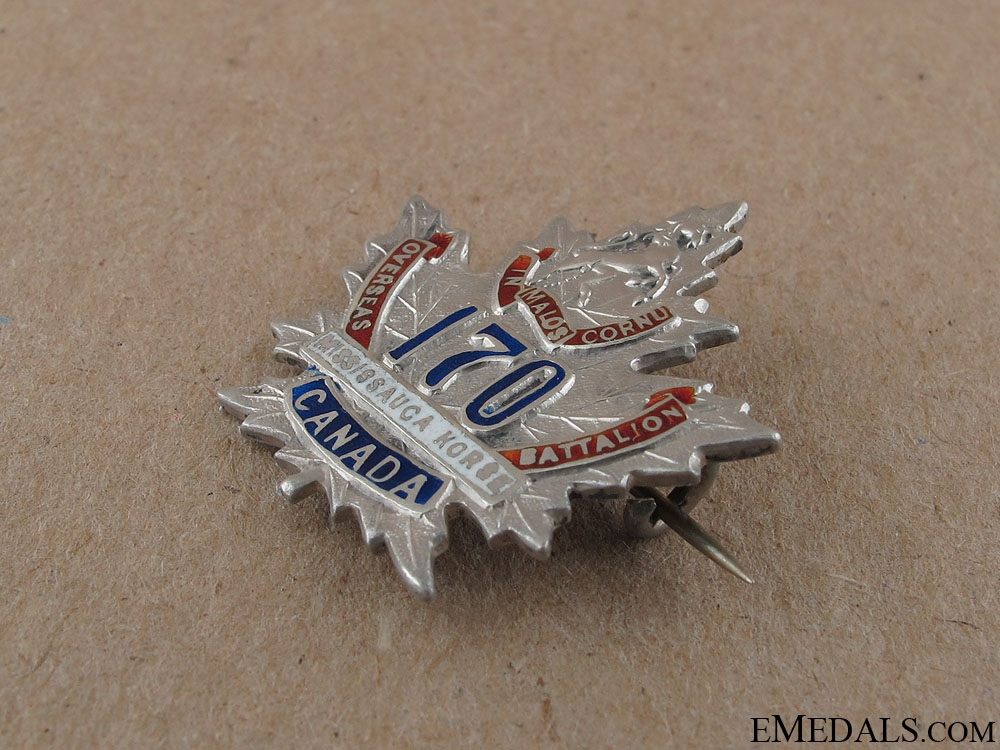 WWI 170th Mississauga Horse Sweetheart Pin