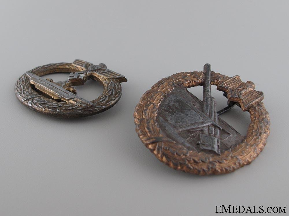 Two Kriegsmarine badges
