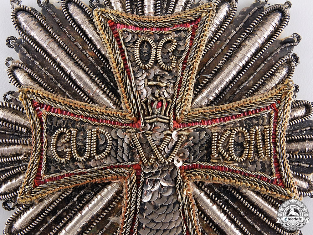 A Danish Order of Dannebrog; Grand Cross Star; Cloth Version
