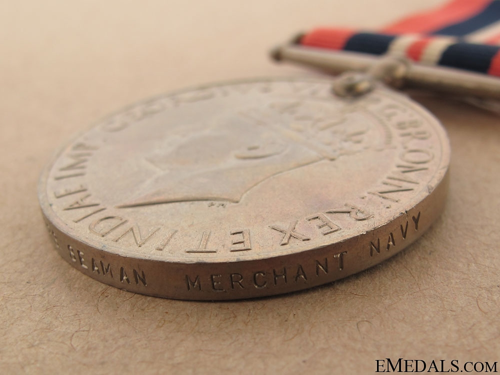 WWII War Medal 1939-1945 - Merchant Navy