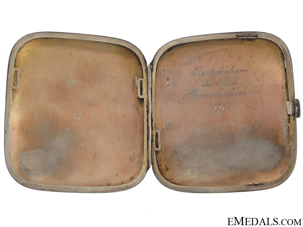 Imperial Austrian Cigarette case with Dedication