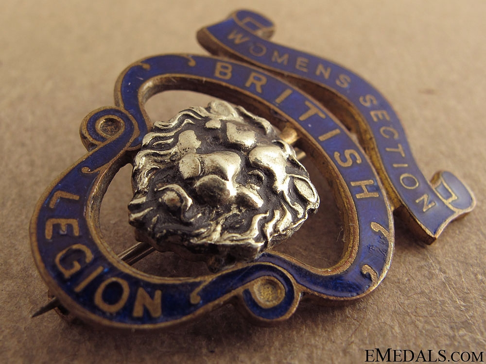 WWI British Legion Womens Section Badge