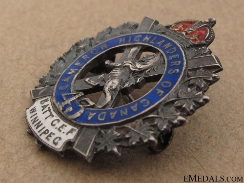 WWI 43rd Infantry Battalion Pin CEF