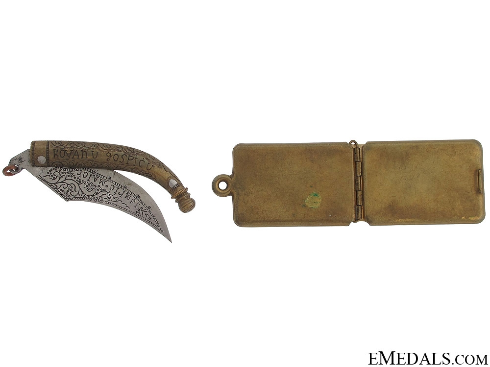 1914 Croatian ID Tag and Knife