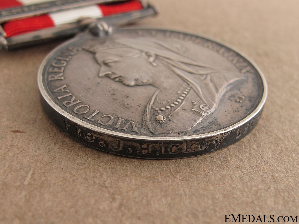 1886 Canada General Service Medal - Ottawa Rifles