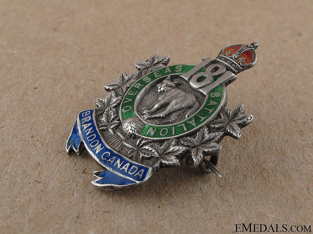 WWI 181st Brandon Battalion Sweetheart Pin