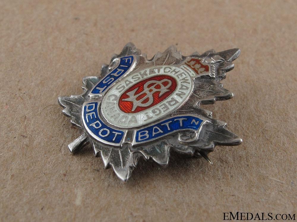 WWI 1st Depot Battalion Sweetheart Pin CEF