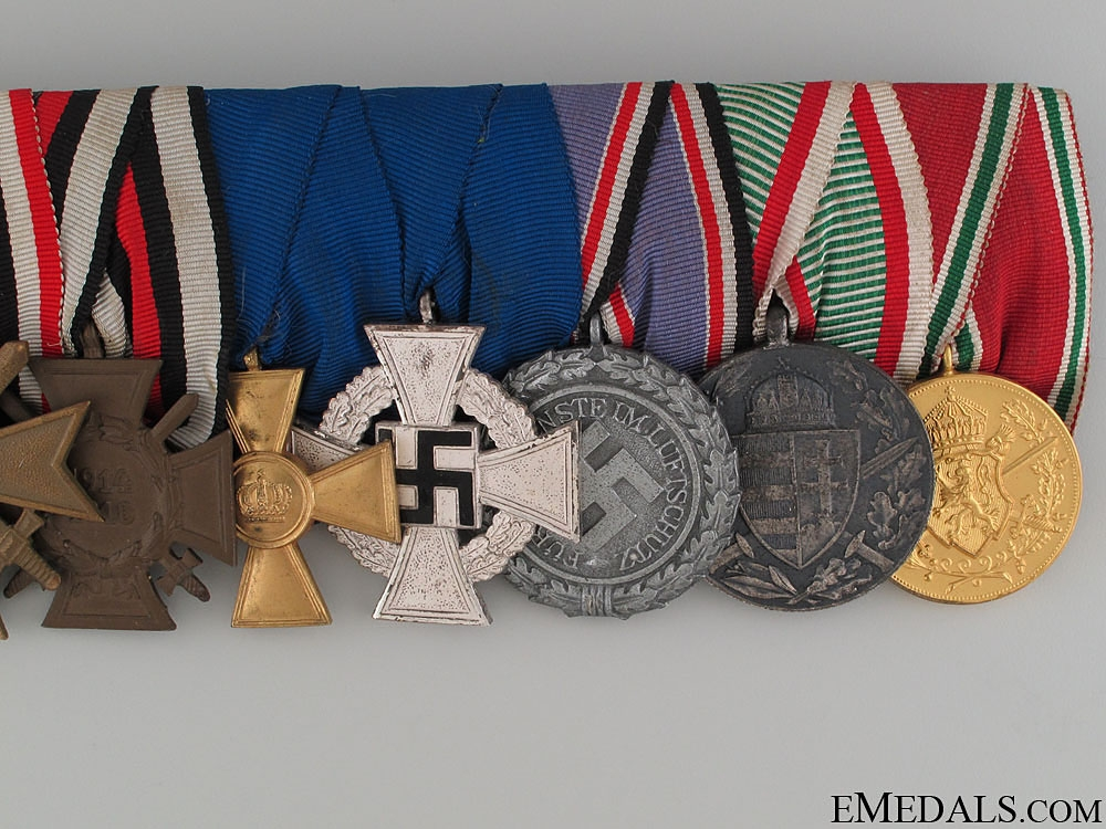 A German Long Service Medal Bar