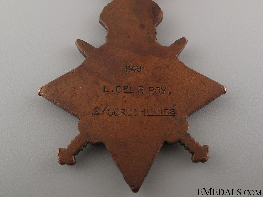"WWI 1914 ""Mons"" Star to a Festubert Casualty"