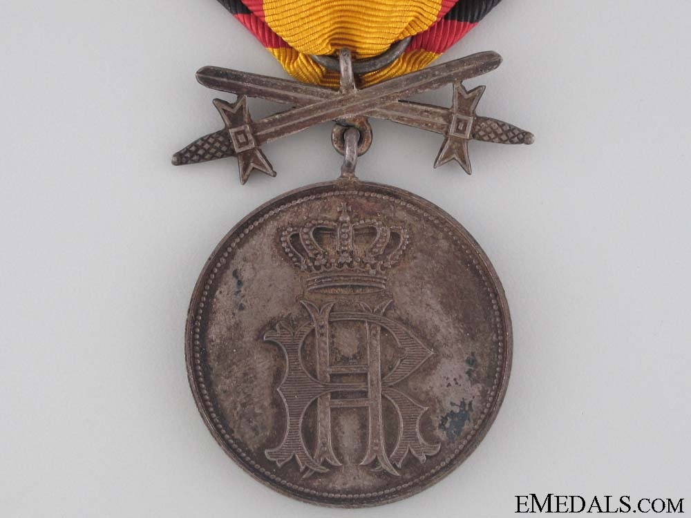 Reuss Merit Medal with Swords - Silver Grade
