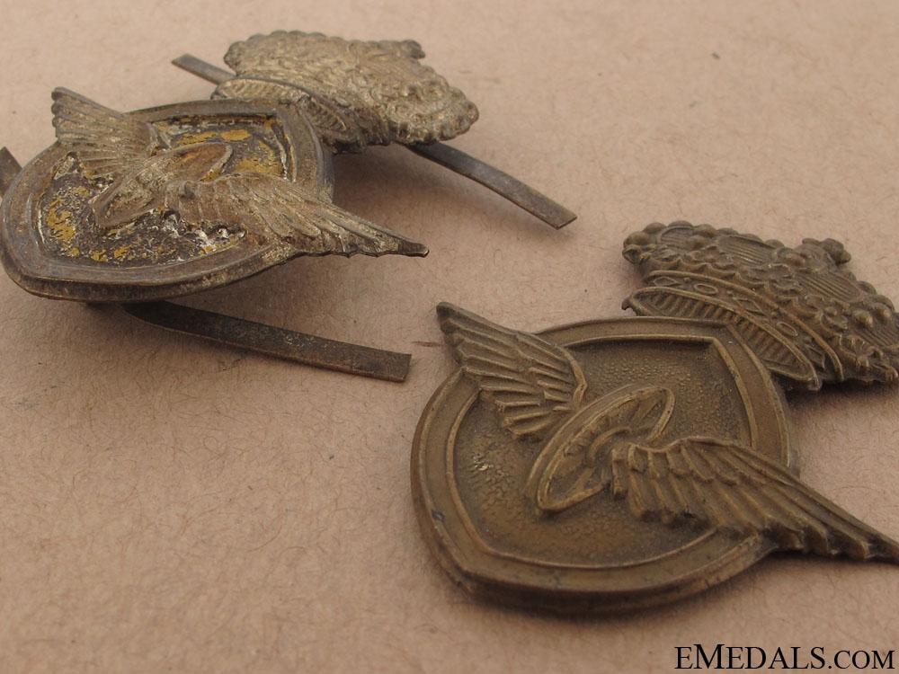 Two Motor Transport Badges
