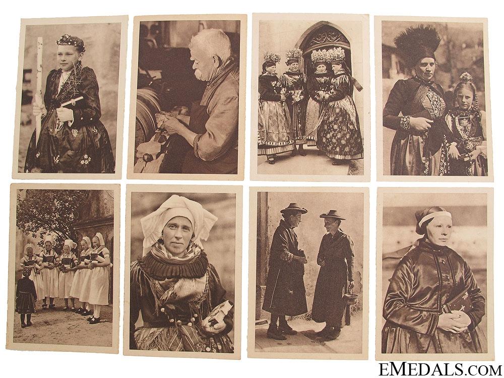 Seventeen Winterhilfswerk (WHW) Postcards 1933