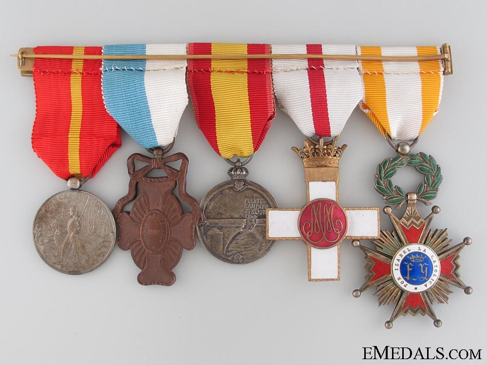 An Order of Isabella the Catholic Medal Bar