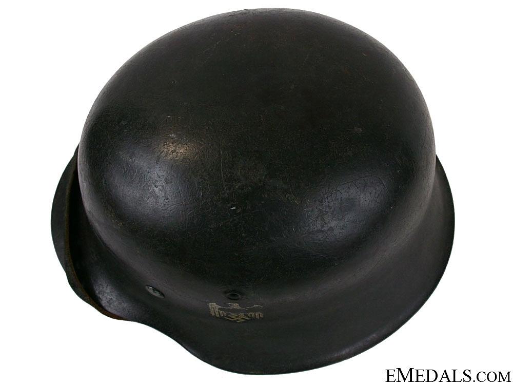 A Model 1942 Army Single Decal Helmet