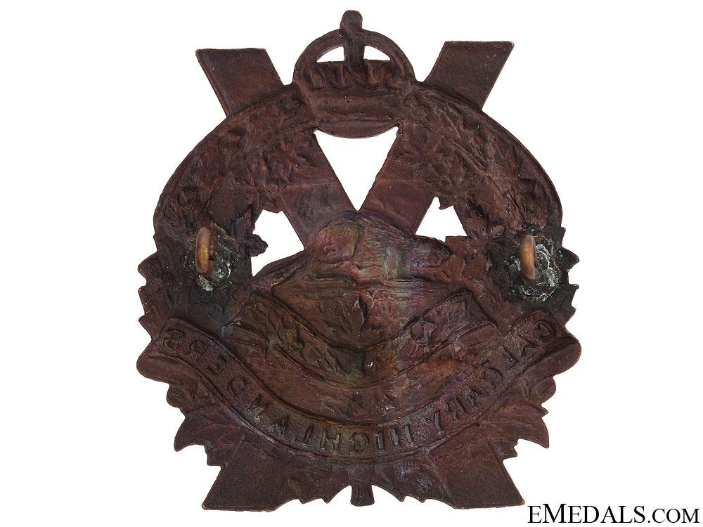 Calgary Highlanders Officer's Cap Badge c.1910