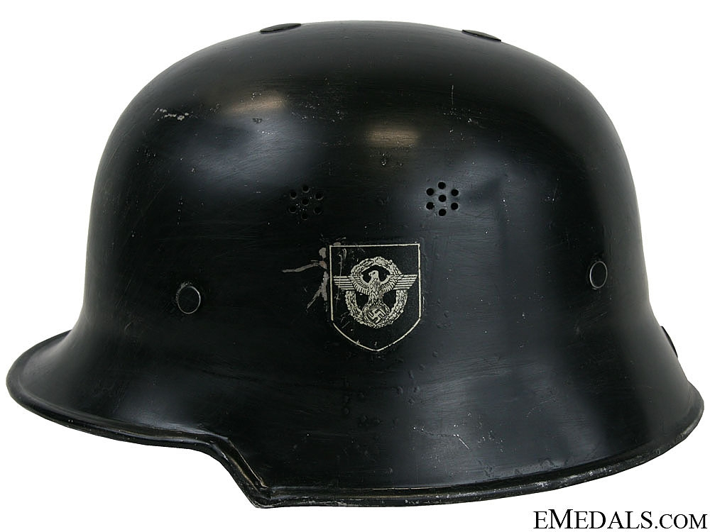 A Fire Police Double Decal Parade Helmet