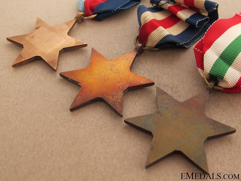 Three WWII Stars