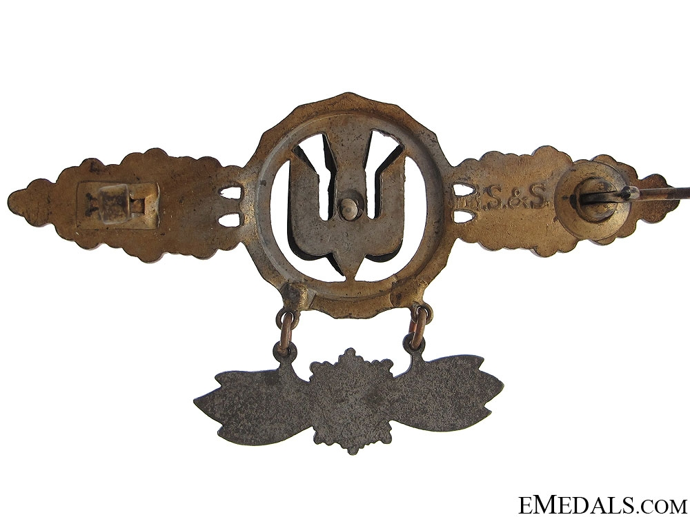 Squadron Clasp for Bomber Pilots with Hanger