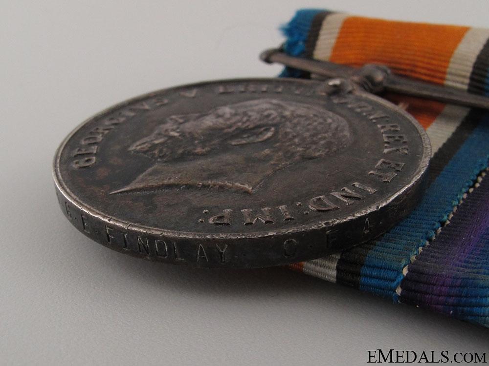 WWI Pair to Gunner Gordon E. Findlay CFA